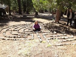 6 circuit Aquarian Labyrinth in Tahoe National Forest at Camp Richards - 2012